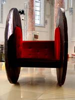 Peter Heel, cable drum for one or two lovers, h 160 cm, 1999, Keil & Heel